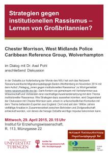 Poster Veranstaltung Morrison