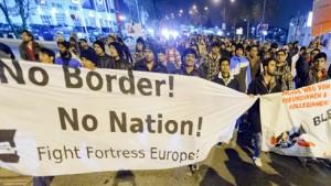 Demo no border Österreich
