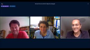 Screenshot der Videokonferenz zur Coronakrise